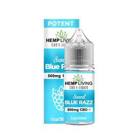 Hemp Living 500mg CBD Sweet Blue Razz E-Liquid