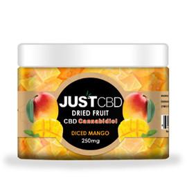 JustCBD 250mg CBD Infused Dried Diced Mango