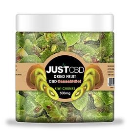JustCBD 500mg CBD Infused Dried Kiwi Chunks