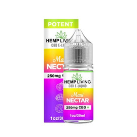Hemp Living 250mg CBD Maui Nectar E-Liquid
