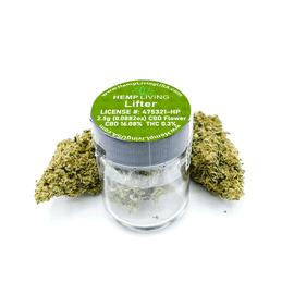Hemp Living CBD Flower 2.5 Gram Jar - Lifter