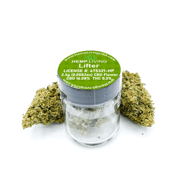 Hemp Living CBD Flower 2.5 Gram Jar - Lifter