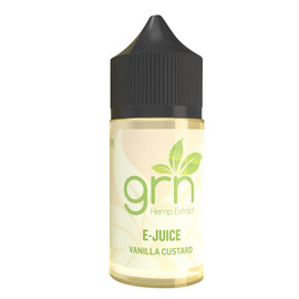 GRN CBD 500mg E-Juice 30ML - Apple Cinnamon - Unflavored - Vanilla Custard