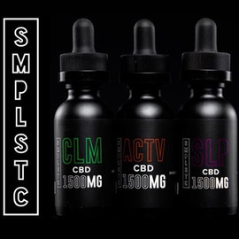SMPLSTC 1500mg Full Spectrum CBD Tincture 30ML