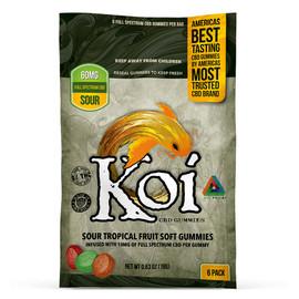 Koi Sour Tropical Fruit Soft CBD Gummies 200mg
