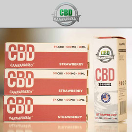 Cannapresso 100mg CBD E-Liquid 30ML Strawberry
