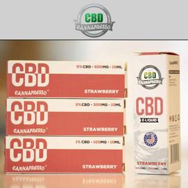 Cannapresso 300mg CBD E-Liquid 30ML Strawberry