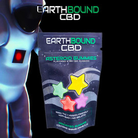 Earthbound CBD 100mg Asteroid Gummies - Pack of 4