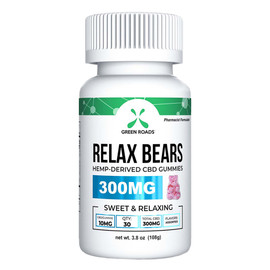 Green Roads 300mg CBD Daily Dose Gummies - Single Bottle - Relax Bears