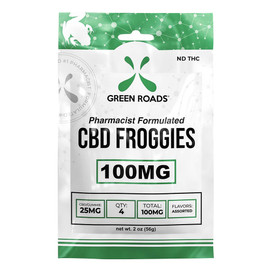 Green Roads 100mg CBD Gummies - Pack of 4 - Froggies