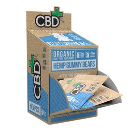 CBDfx 40mg Full Spectrum Organic Hemp Gummy Bears - Display of 30 Pouches