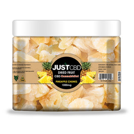 JustCBD 1000mg CBD Infused Dried Fruit - Pineapple Chunks