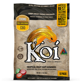 Koi 200mg Sour Tropical Fruit Soft CBD Gummies - 20 Pieces