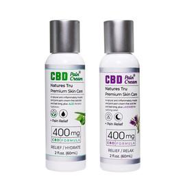 Natures Tru 400mg CBD Pain Cream 2oz  - Aloe - Lavender