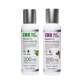 Natures Tru 200mg CBD Pain Cream 2oz - Aloe - Lavender