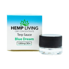 Hemp Living 1000mg CBD Concentrate Blue Dream Terp Sauce 1 Gram