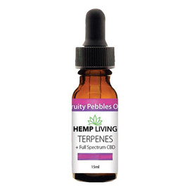 Hemp Living 250mg Full Spectrum CBD Fruity Pebbles OG Terpenes Oil 15ML