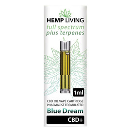 Hemp Living 500mg Full Spectrum CBD Blue Dream Terpenes Cartridge