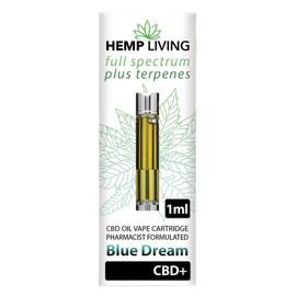 Hemp Living 500mg Full Spectrum CBD Blue Dream Terpenes Cartridge