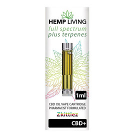 Hemp Living 500mg Full Spectrum CBD Terpenes Single Cartridge 1ML - Zkittles