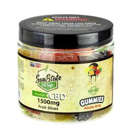 Sun State Hemp 1500mg CBD Gummy Fruit Slices - Assorted Flavors
