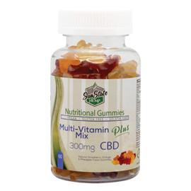 Sun State Hemp 300mg Nutritional CBD Gummies Multivitamin Mix