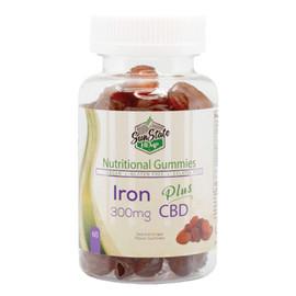Sun State Hemp 300mg Nutritional CBD Gummies With Iron - 60 Count