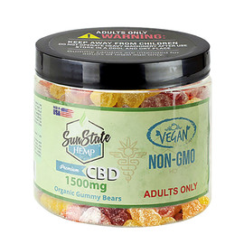Sun State Hemp 1500mg Organic Vegan CBD Gummy Bears