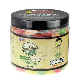 Sun State Hemp 1500mg Premium Sour CBD Gummy Bears