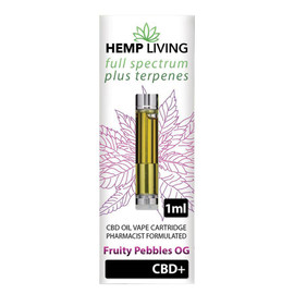 Hemp Living 1000mg Full Spectrum CBD Fruity Pebbles OG Terpenes Cartridge