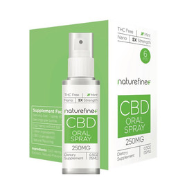 Naturefine+ 250mg CBD Oral Spray 15ML - Pack oF 6