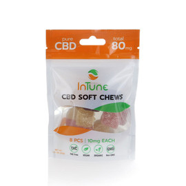 Intune CBD 10mg Soft Chews Individual Pack of 8