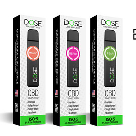 Dose ISO-5: 5% Active Isolate CBD Disposable Device Single