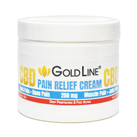CBD GoldLine 250mg Pain Relief Cream 4oz