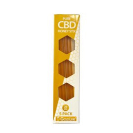 CBD GoldLine 20mg Pure CBD Honey Stix - Pack of 5