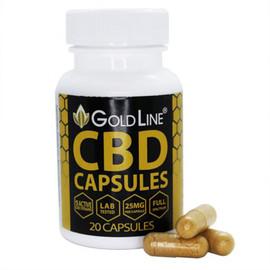 CBD GoldLine 25mg Full Spectrum CBD Pill Capsules - 20ct