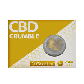GoldLine CBD 250mg CBD Crumble 1 Gram