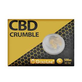 GoldLine CBD 500mg CBD Crumble 1 Gram