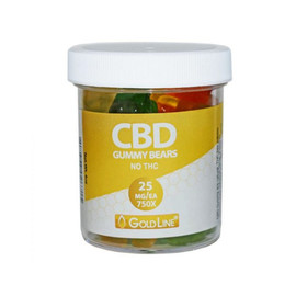 GoldLine CBD Infused Gummy Bears 4oz