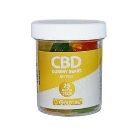 CBD GoldLine Infused Gummy Bears 4oz