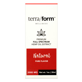 TerraForm 2000mg Full Spectrum Natural Hemp Oil Extract 30ml