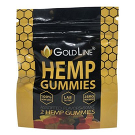 CBD GoldLine 25mg CBD Infused Gummy Bears Pack of 2