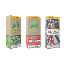 Erth Hemp CBD Filled Pre-Rolls - Pack of 4