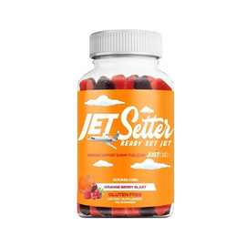 JustCBD 300mg Jet Setter CBD Immune Support Gummies 60ct - Orange Berry Blast