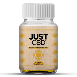 Just CBD 25mg Energy Dietary Supplement CBD Capsules - Display Of 12