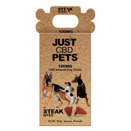 Just CBD Pets 100mg CBD Infused Dog Treats - Steak Bites