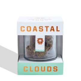 Coastal Clouds CBD Enriched Hemp Flower 3.5 Grams Cherry Blossom - Front