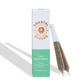 Coastal Clouds CBD Filled Hemp Pre-Rolls - Pack of 2