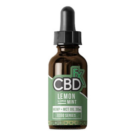 CBDfx 1000mg Lemon Lime Mint Flavored Full Spectrum CBD Hemp and MCT Oil Tincture