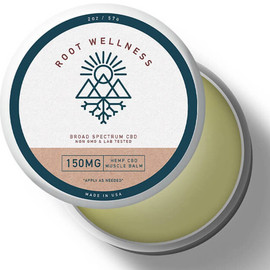 Root Wellness 150mg Broad Spectrum CBD Hemp Muscle Balm 2oz
